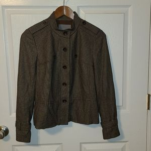 Classiques Entier Brown Wool Blend Lined Jacket
